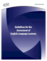 Guidelines for the assessment of english language learners