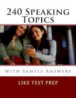 240 speaking topics