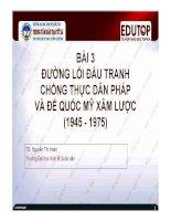 Bài giảng Đường lối cách mạng của Đảng Cộng sản Việt Nam: Bài 3 (TS. Nguyễn Thị Hoàn)