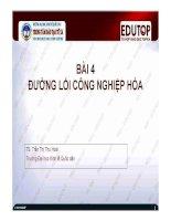 Bài giảng Đường lối cách mạng của Đảng Cộng sản Việt Nam: Bài 4 (TS. Trần Thị Thu Hoài)