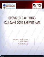 Bài giảng Đường lối cách mạng của Đảng Cộng sản Việt Nam: Bài 1 (Nguyễn Hữu Công)