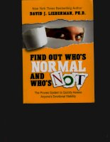 David j  lieberman   find out whos normal and whos not (popular psychology) viter press (2010)
