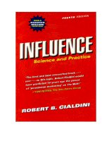 Robert b  cialdini   influence  science and practice allyn  bacon (2000)