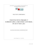 Ineffective project scheduling and time control in sun viet jsc