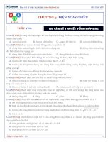 THẦY VNA 169 câu lý thuyết điện xoay chiều
