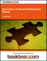 Examples of General Elementary Series - eBooks and textbooks from bookboon.com