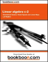 Linear algebra c-2: Geometrical Vectors, Vector Spaces and Linear Maps  - eBooks and textbooks from bookboon.com