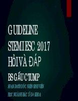 STEMI ESC 2017 GAUCTUMP