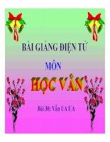 Tiếng Việt 1 bài 30 Vần UA ƯA | Ngữ văn, Lớp 1 - Ôn Luyện