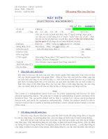Đề cương bài giảng Máy điện - ĐH Bách khoa Tp.HCM