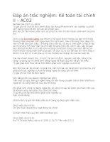 Kế toán tài chính II – AC02