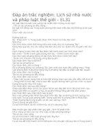 Lịch sử nhà nước và pháp luật thế giới – EL31