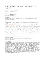 Anh văn 1 – EG09