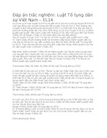 Luật tố tụng dân sự việt nam – EL14