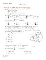 Đề cương ôn tập HK2 môn toán 9 năm 2019 2020   trường THCS nguyễn đức cảnh
