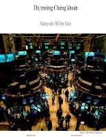 slide phân tích đầu tư chứng khoán ftu chương 1 thị trường chứng khoán