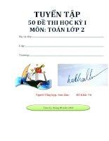 TUYỂN tập 50 đề THI học kỳ 1 lớp 2