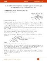 10 đề kiểm tra 1 tiết HK1 môn Ngữ văn 6 năm 2019 có đáp án