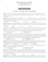 Ngân hàng đề 400 câu dòng điện xoay chiều có phân dạng và đáp án