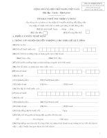 Tờ khai thuế thu nhập cá nhân (Mẫu số 03 BĐS-TNCN)