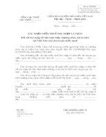 Xác nhận miễn thuế thu nhập cá nhân (Mẫu số 02 XNMT)
