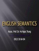 Semantics   chapter1   PG Semantics and the subject matter of semantics