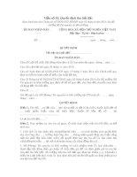 Quyết định thu hồi đất (Mẫu số 10)