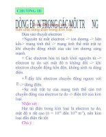 dong dien trong cac moi truong