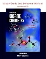 Preview Organic Chemistry Study Guide and Solutions, 6th Edition by Jim Parise, Marc Loudon (2015)