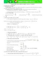 Ôn tập Dòng điện xoay chiều  Trắc nghiệm và đáp án trang cuối