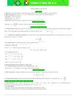 Tóm tắt kiến thức môn Vật Lý lớp 11