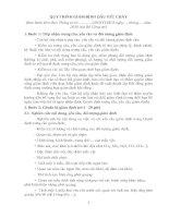 QUY TRÌNH GIÁM ĐỊNH DẤU VẾT CHÁY