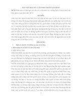 bài tập học kỳ luật hôn nhân gia đình