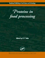 Proteins in food processing R Y Yada