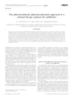 The pharmacokinetic–pharmacodynamic approach to a rational dosage regimen for antibiotics