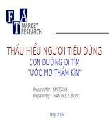MKT consumer insights thau hieu nguoi tieu dung