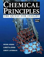 Preview Chemical Principles The Quest for Insight, 7th Edition by Peter Atkins (author), Loretta Jones (author), Leroy Laverman (author) (2016)