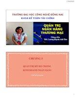 Bài giảng Quản trị ngân hàng thương mại: Chương 5 - ThS. Lương Huỳnh Anh Thư