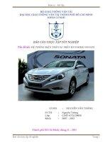 Báo cáo thực tập tốt nghiệp điện thân xe HYUNDAI SONATA