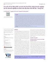 Các yếu tố tác động đến sự tuân thủ thuế thu nhập doanh nghiệp tại các doanh nghiệp tư nhân trên địa bàn tỉnh Bà Rịa - Vũng Tàu