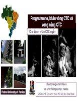 Bài giảng Progesterone, khâu vòng cổ tử cung và vòng nâng cổ tử cung cho bệnh nhân cổ tử cung ngắn