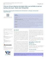 Tỉ lệ các rối loạn nhịp tim trên bệnh nhân cao tuổi điều trị nội trú tại khoa tim mạch - Bệnh viện Thống Nhất