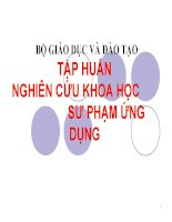 NGHIEN CUU KHOA HOC SU PHAM UNG DUNG
