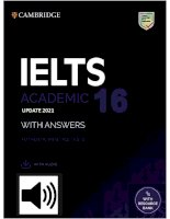 IELTS CAM 16  with audio (Link file nghe đính kèm cuối sách)