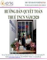 Slide huong dan quyet toan thue TNCN nam 2020