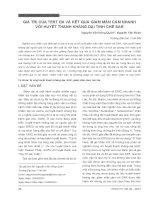 Giá trị của test da và kết quả giảm mẫn cảm nhanh với huyết thanh kháng dại tinh chế SAR